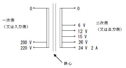 電源トランスの回路図